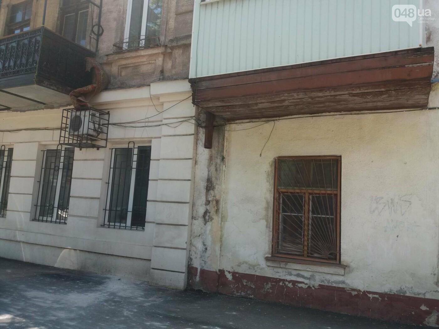 В Одессе на улице Заславского обвалился фасад, - ФОТО, ВИДЕО , фото-3