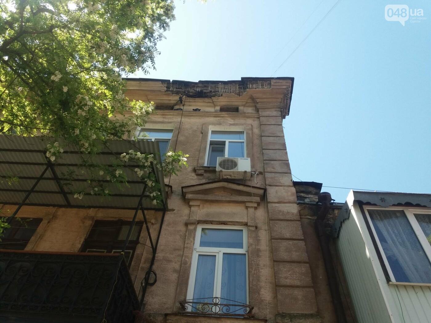 В Одессе на улице Заславского обвалился фасад, - ФОТО, ВИДЕО , фото-5