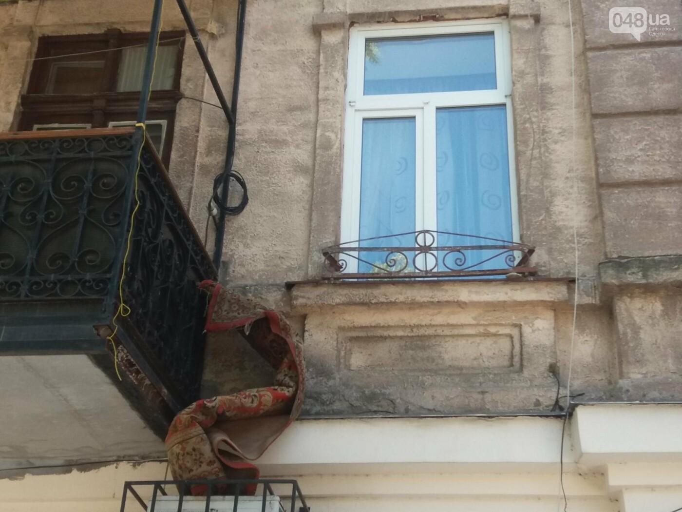 В Одессе на улице Заславского обвалился фасад, - ФОТО, ВИДЕО , фото-1