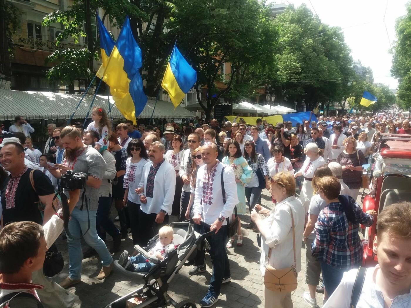 В Одессе прошел Мегамарш в вышиванках, - ФОТО, ВИДЕО, фото-4