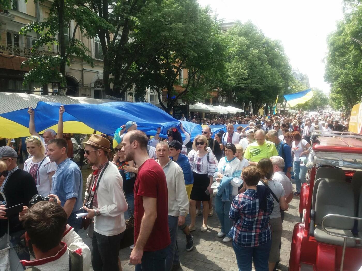 В Одессе прошел Мегамарш в вышиванках, - ФОТО, ВИДЕО, фото-6