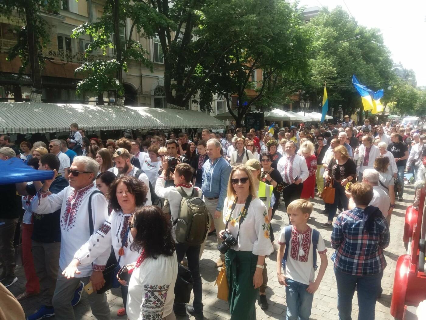 В Одессе прошел Мегамарш в вышиванках, - ФОТО, ВИДЕО, фото-7