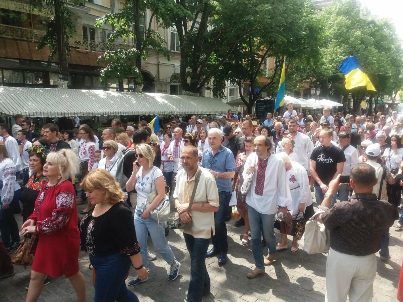 В Одессе прошел Мегамарш в вышиванках, - ФОТО, ВИДЕО, фото-8