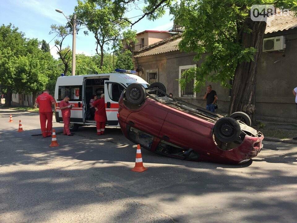 В Одессе перевернулся ДЭУ-Матиз: пострадала пассажирка, - ФОТО, фото-4