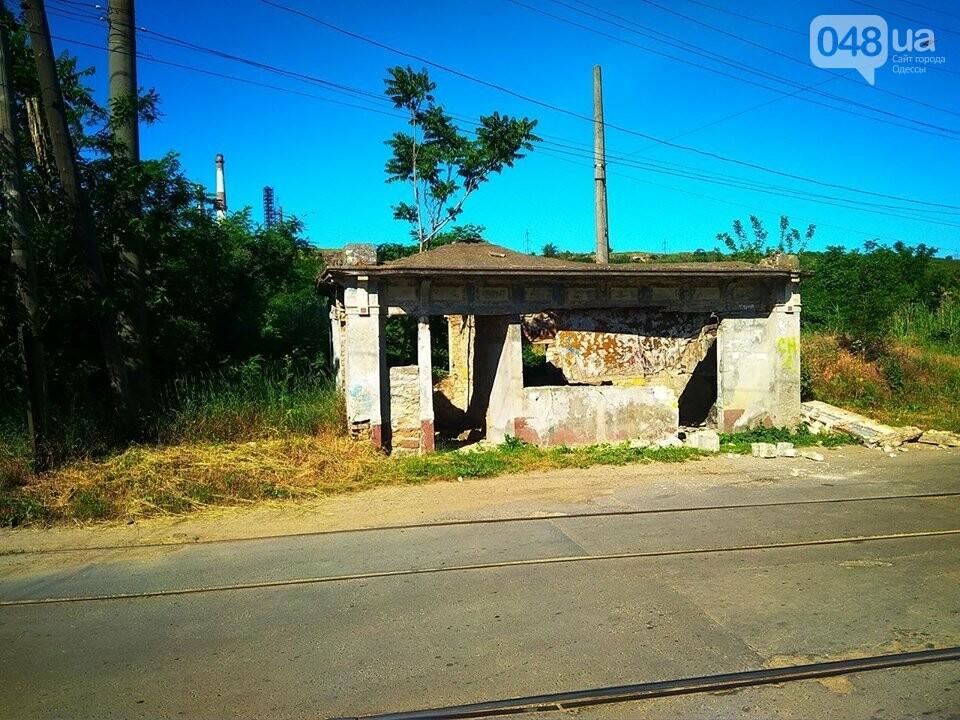 В Одессе неизвестные разрушили уникальную трамвайную остановку, - ФОТО, фото-3
