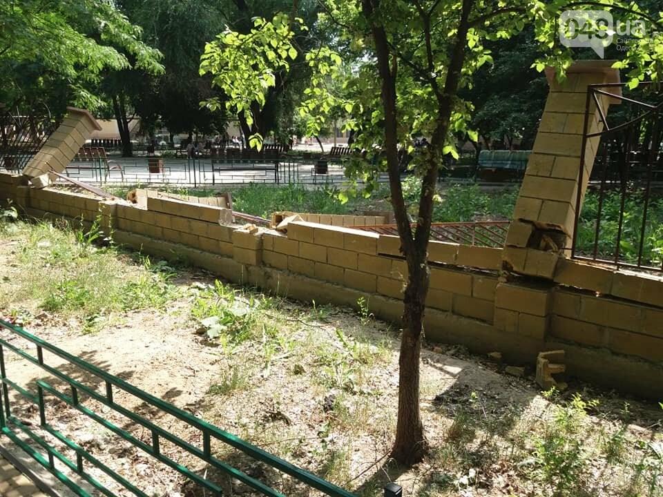 Строители хуже вандалов: соцсети обсуждают ЧП около одесской школы, - ФОТО, фото-12