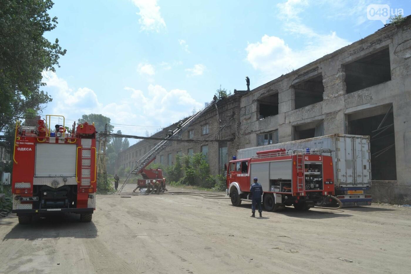 На одесской Пересыпи горели руины автосборочного завода, фото-2