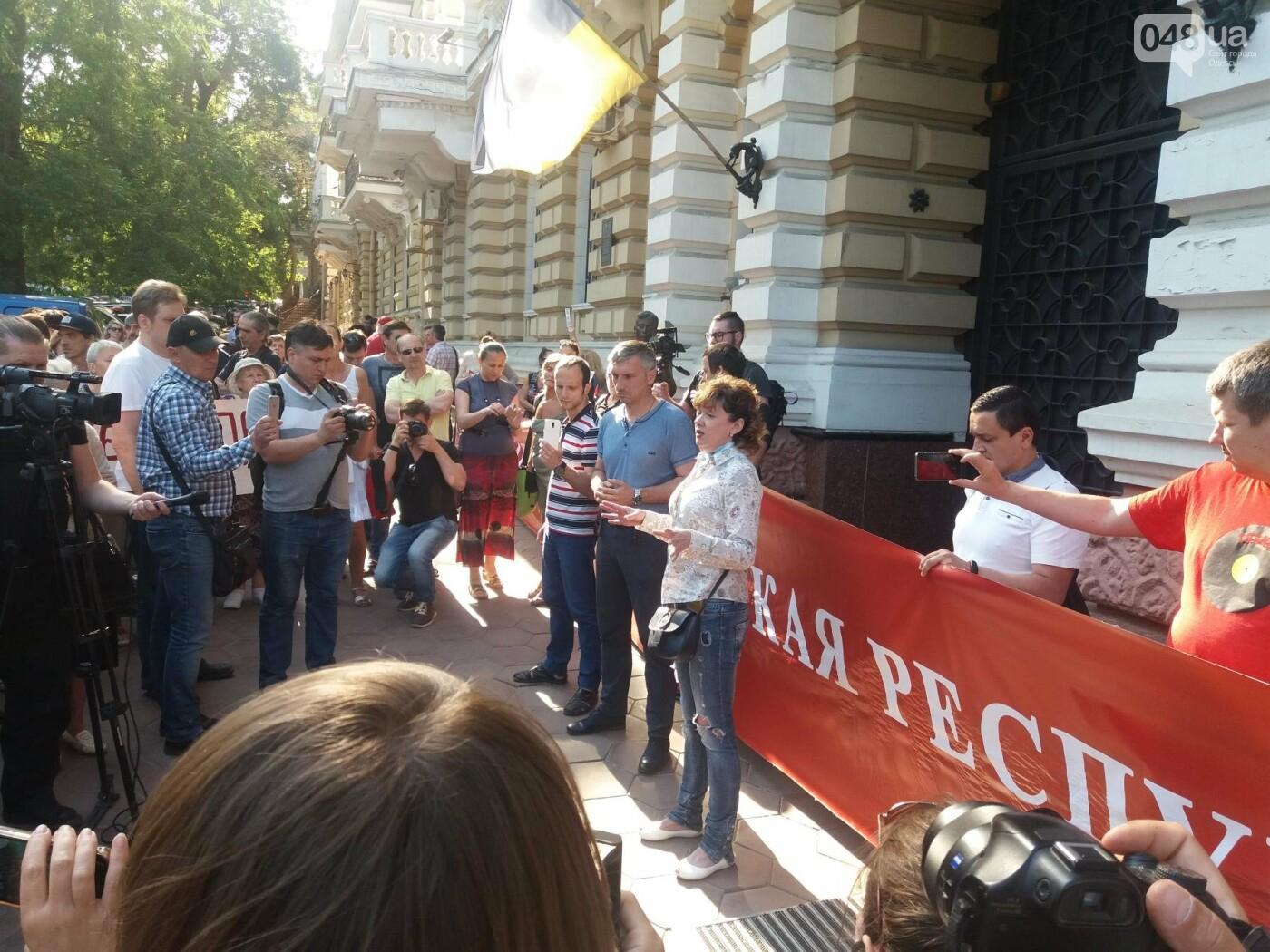 В Одессе протестовали против нападений на активистов и журналистов, - ФОТО, ВИДЕО, фото-4