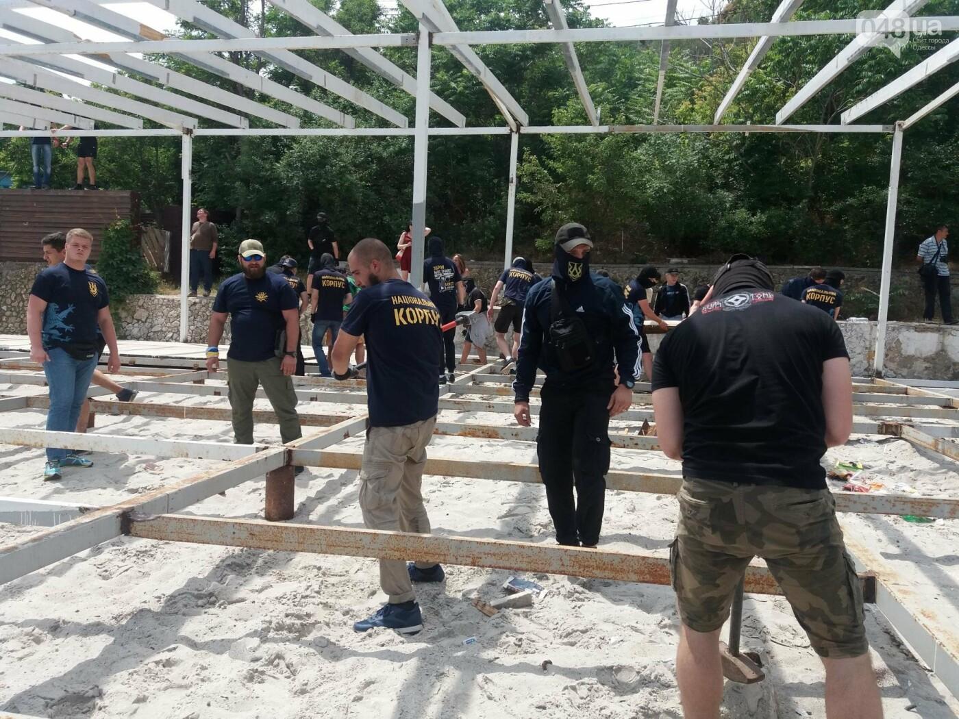 На Одесском пляже прошла акция по демонтажу незаконного сооружения, - ФОТО, ВИДЕО, фото-14