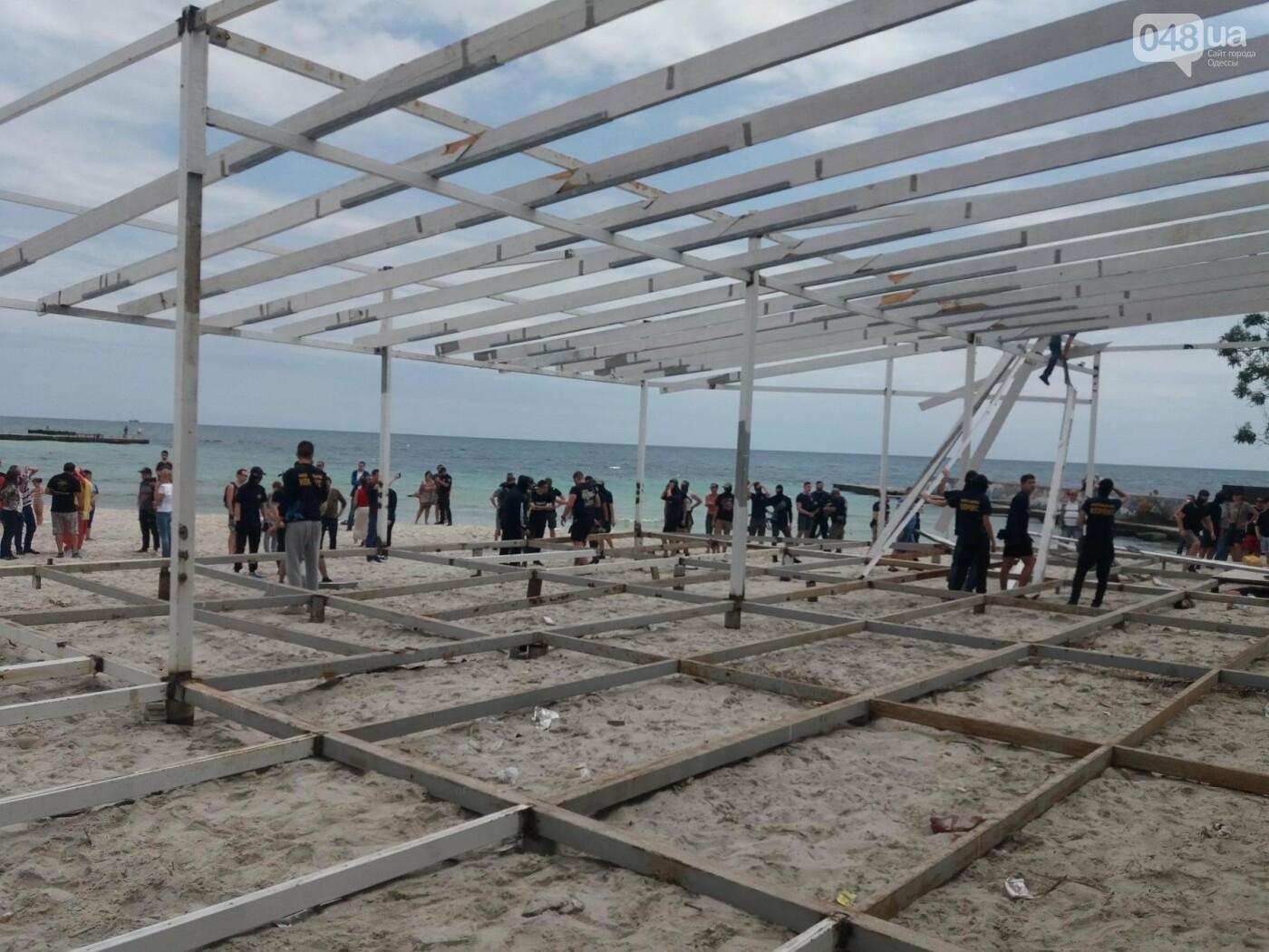 На Одесском пляже прошла акция по демонтажу незаконного сооружения, - ФОТО, ВИДЕО, фото-6