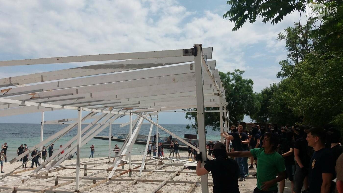 На Одесском пляже прошла акция по демонтажу незаконного сооружения, - ФОТО, ВИДЕО, фото-3