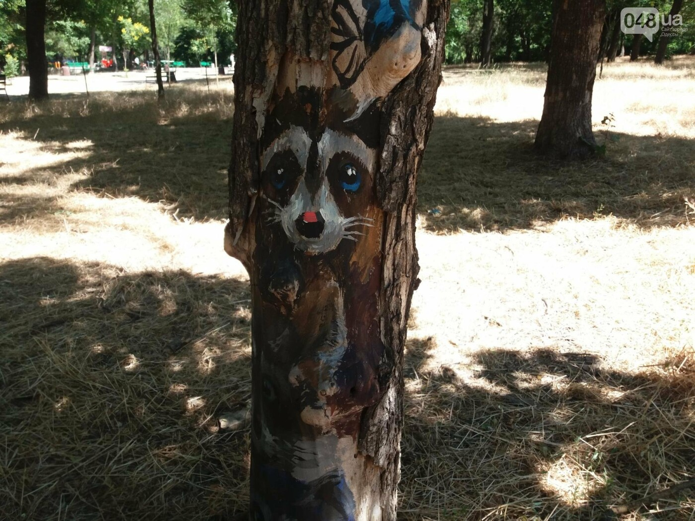 В Одесском парке появились необычные рисунки на деревьях, - ФОТО, фото-1