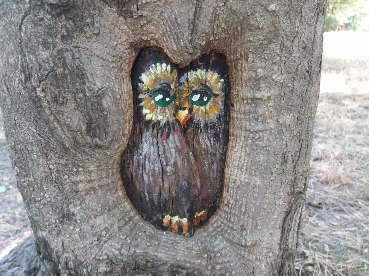 В Одесском парке появились необычные рисунки на деревьях, - ФОТО, фото-6