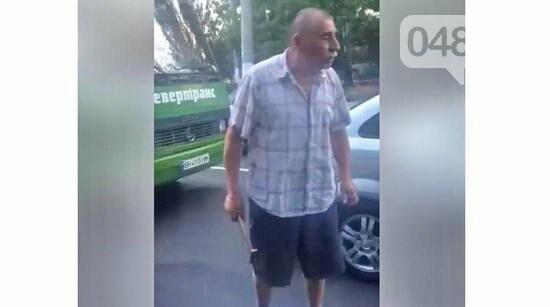 Водитель одесской маршрутки угрожал молотком, - ФОТО, фото-1