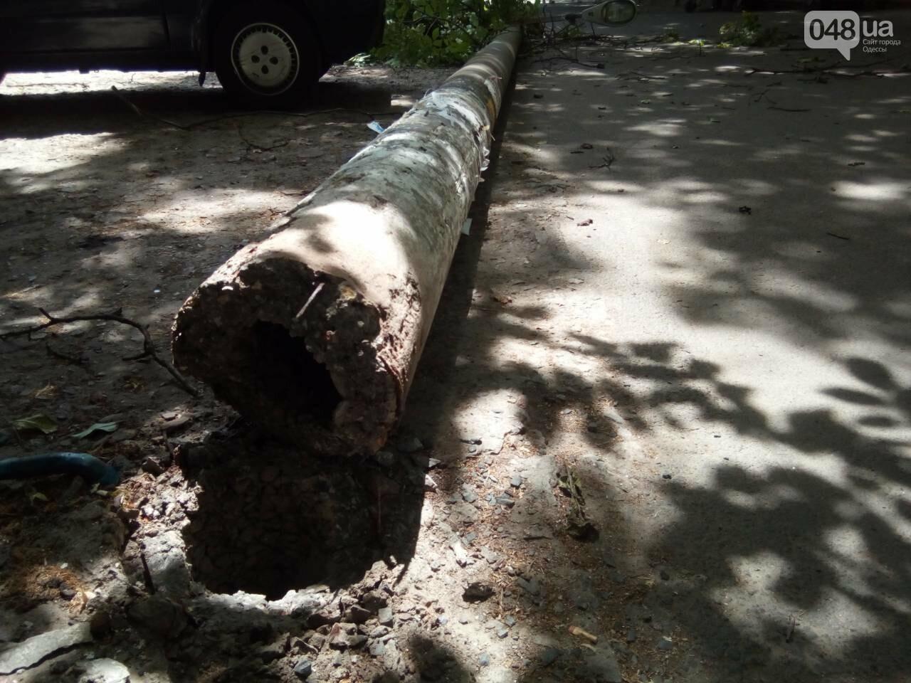 В Одессе на Таирова на пешеходную зону рухнул бетонный столб, - ФОТО, фото-1