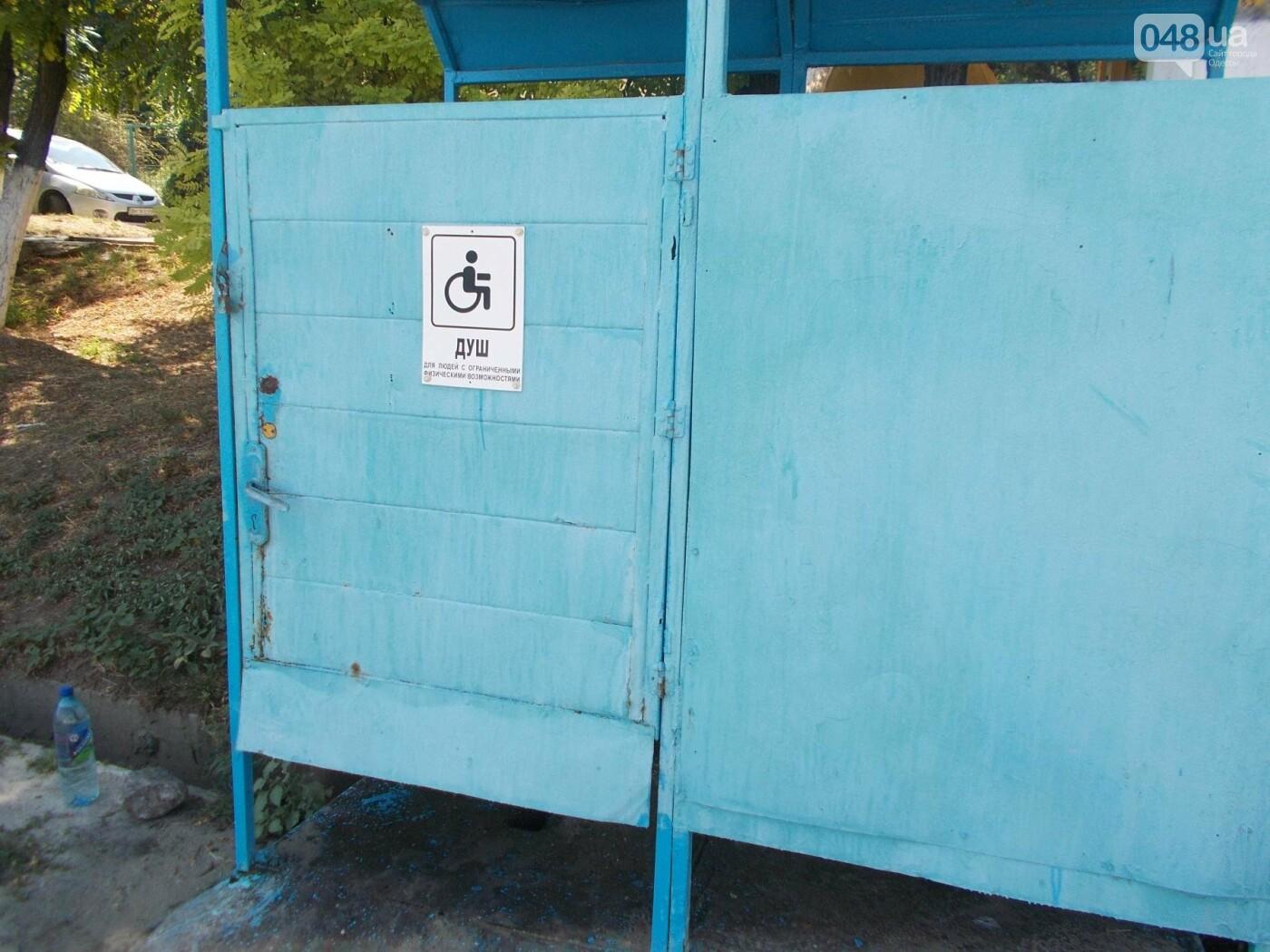 Удобства под замком: на пляже для людей с инвалидностью в Одессе в душ и туалет попасть нереально, - ФОТО , фото-2