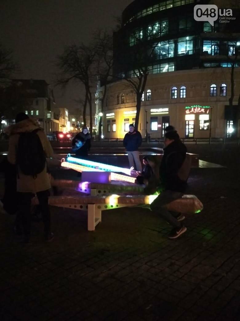 Световые качели на Греческой площади