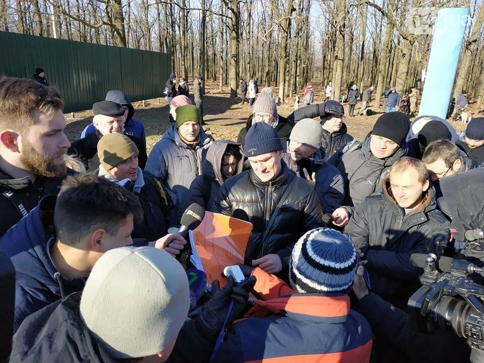 Активисты отвоевывают незаконно захваченный участок одесского парка, - ФОТО, ВИДЕО , фото-7