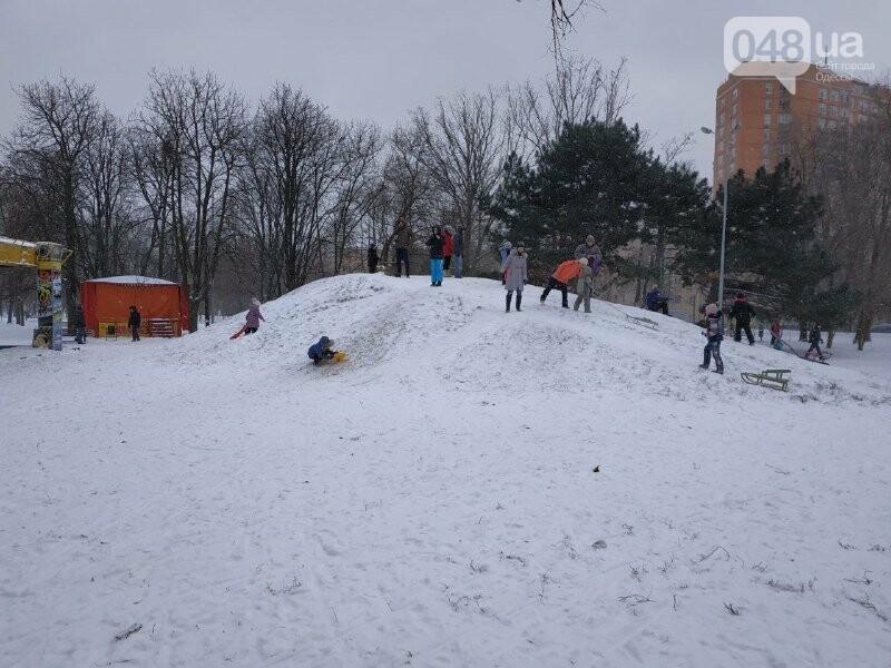 Зима в одесском Парке Победы: снежный фоторепортаж, - ФОТО, фото-8