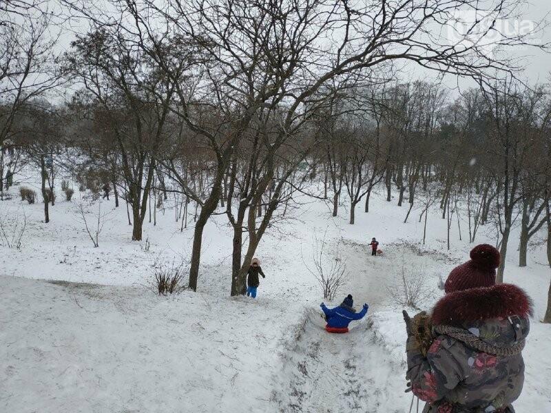 Зима в одесском Парке Победы: снежный фоторепортаж, - ФОТО, фото-44