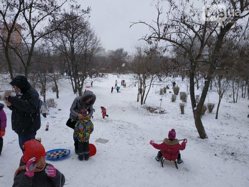 Зима в одесском Парке Победы: снежный фоторепортаж, - ФОТО, фото-26