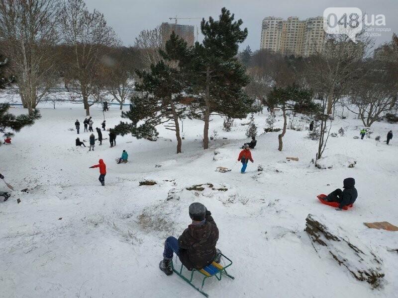 Зима в одесском Парке Победы: снежный фоторепортаж, - ФОТО, фото-31
