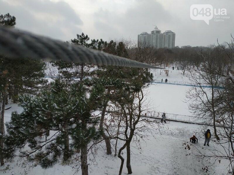 Зима в одесском Парке Победы: снежный фоторепортаж, - ФОТО, фото-32