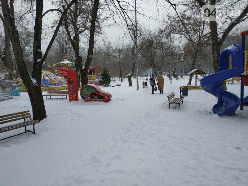 Зима в одесском Парке Победы: снежный фоторепортаж, - ФОТО, фото-4