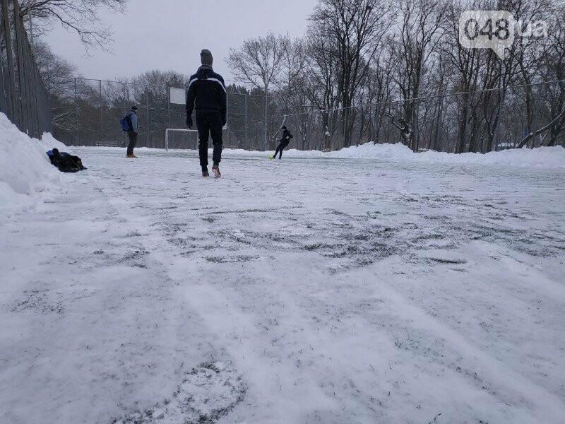 Зима в одесском Парке Победы: снежный фоторепортаж, - ФОТО, фото-3