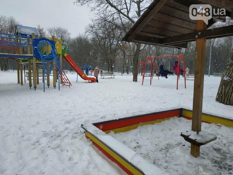 Зима в одесском Парке Победы: снежный фоторепортаж, - ФОТО, фото-6