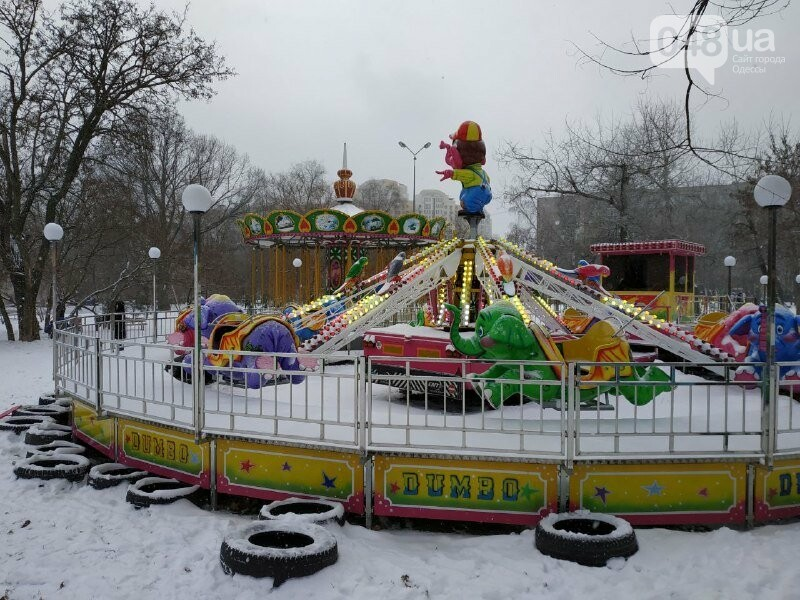 Зима в одесском Парке Победы: снежный фоторепортаж, - ФОТО, фото-46
