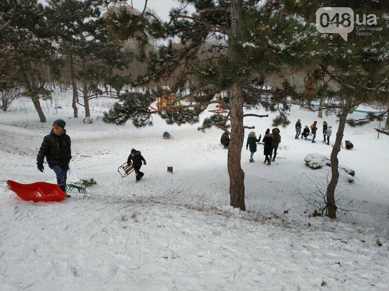 Зима в одесском Парке Победы: снежный фоторепортаж, - ФОТО, фото-22