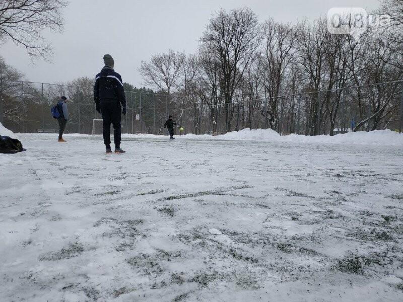 Зима в одесском Парке Победы: снежный фоторепортаж, - ФОТО, фото-25