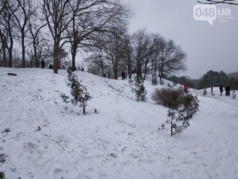Зима в одесском Парке Победы: снежный фоторепортаж, - ФОТО, фото-39