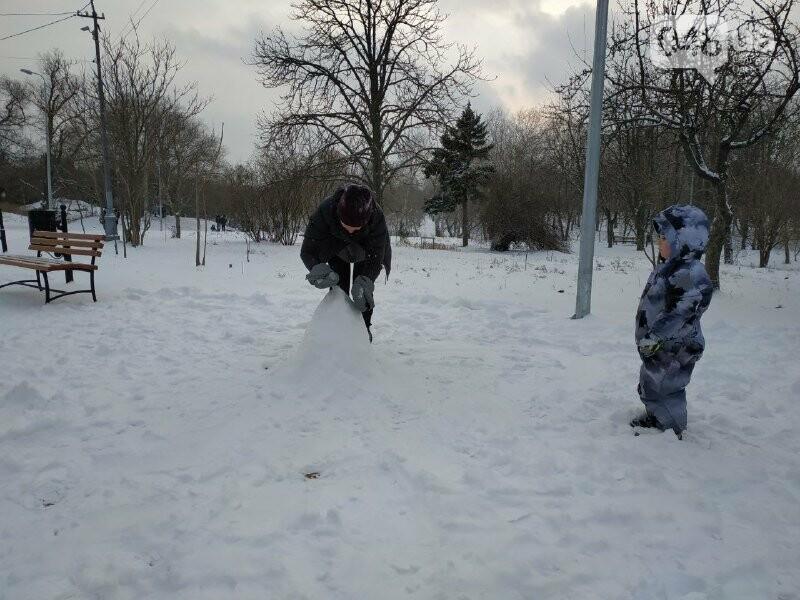 Зима в одесском Парке Победы: снежный фоторепортаж, - ФОТО, фото-12
