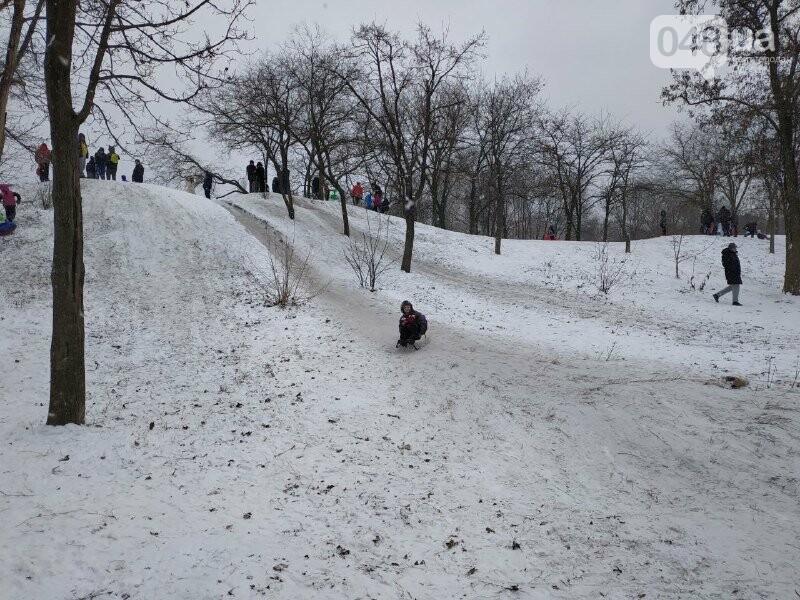 Зима в одесском Парке Победы: снежный фоторепортаж, - ФОТО, фото-38