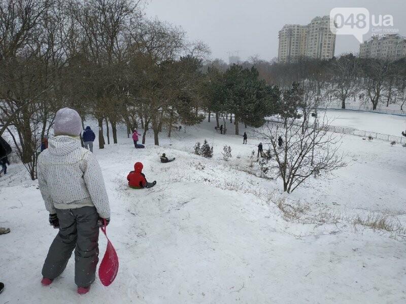 Зима в одесском Парке Победы: снежный фоторепортаж, - ФОТО, фото-36
