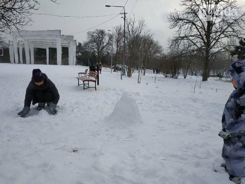 Зима в одесском Парке Победы: снежный фоторепортаж, - ФОТО, фото-2