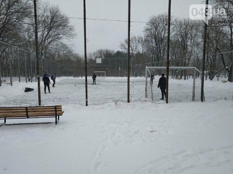 Зима в одесском Парке Победы: снежный фоторепортаж, - ФОТО, фото-40