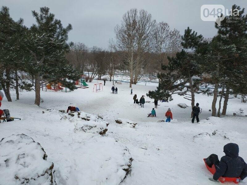 Зима в одесском Парке Победы: снежный фоторепортаж, - ФОТО, фото-17