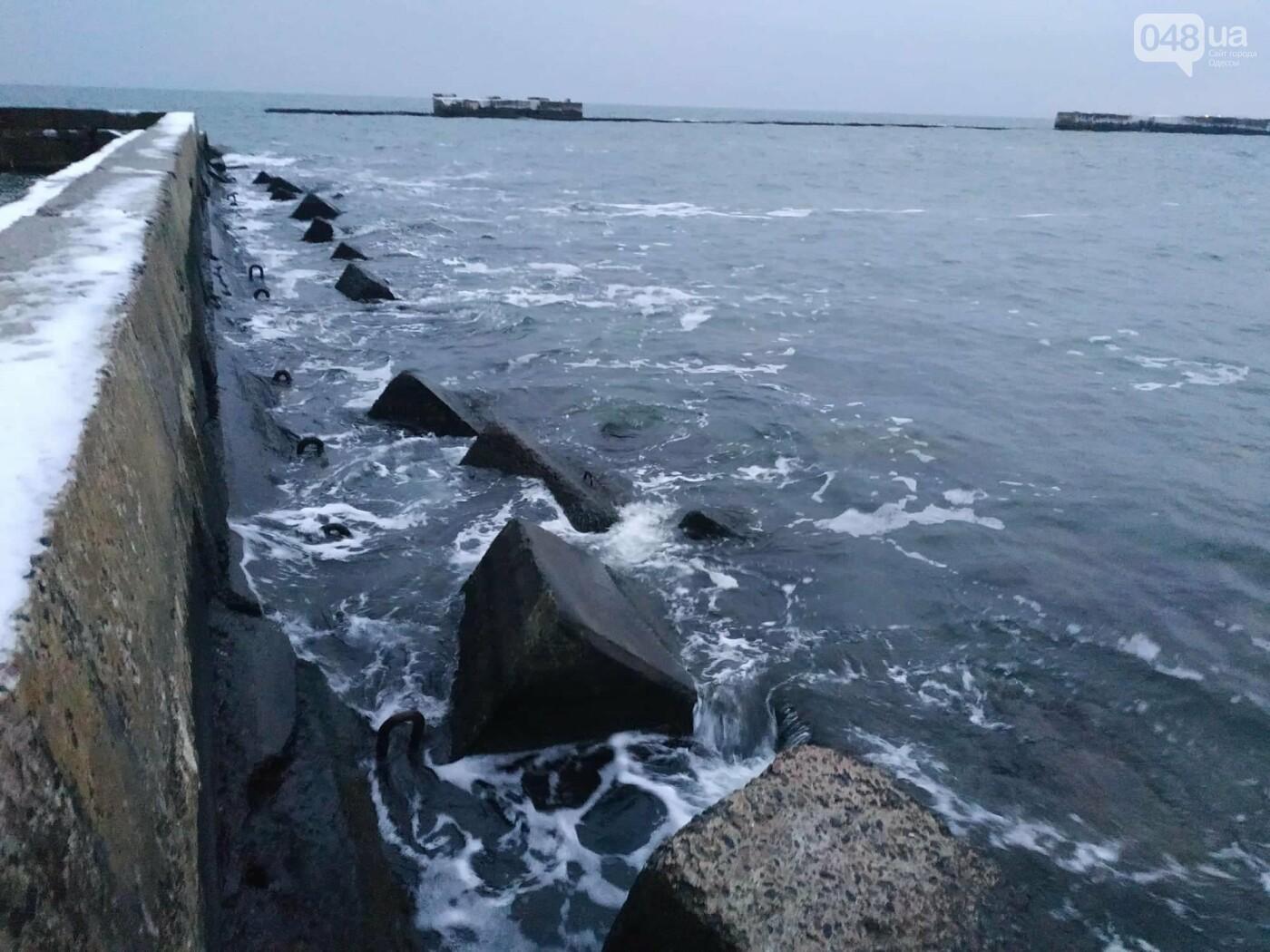 Заснеженные одесские пляжи вечером: вот где стоит прогуляться, - ФОТО, фото-14