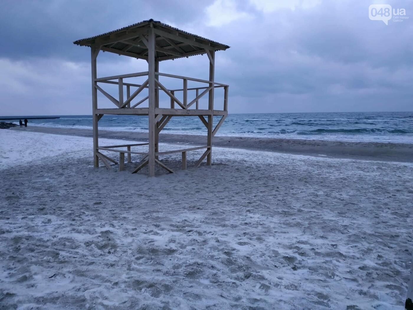 Заснеженные одесские пляжи вечером: вот где стоит прогуляться, - ФОТО, фото-15