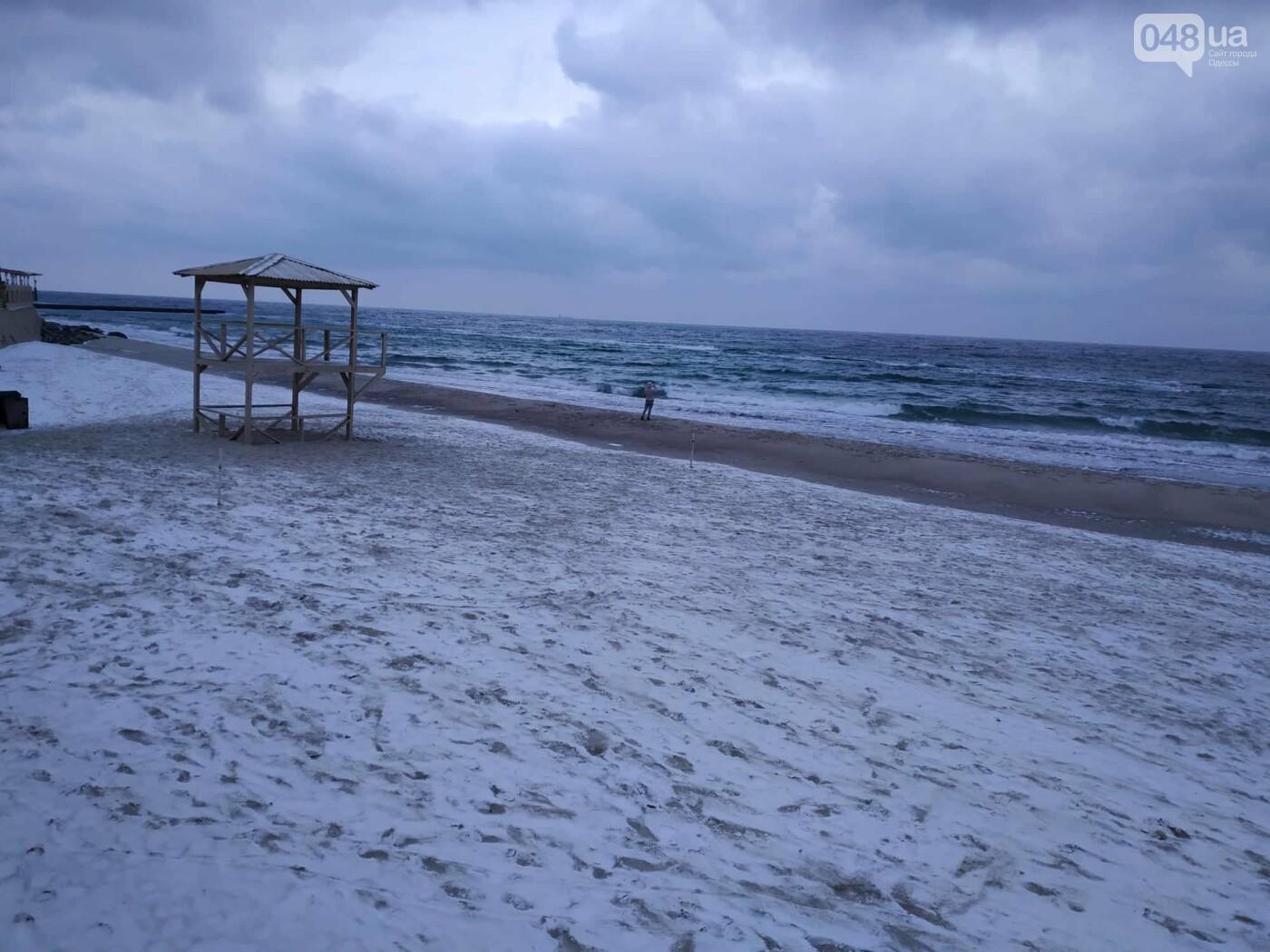Заснеженные одесские пляжи вечером: вот где стоит прогуляться, - ФОТО, фото-17