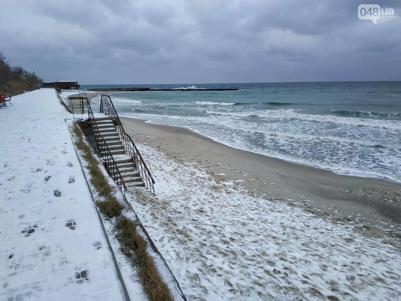Заснеженные одесские пляжи вечером: вот где стоит прогуляться, - ФОТО, фото-42