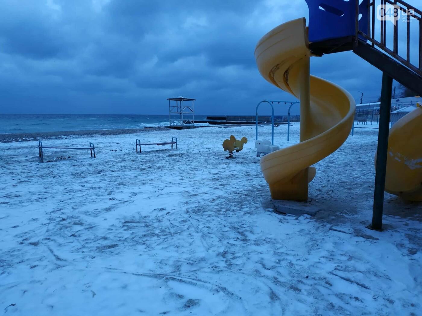 Заснеженные одесские пляжи вечером: вот где стоит прогуляться, - ФОТО, фото-43