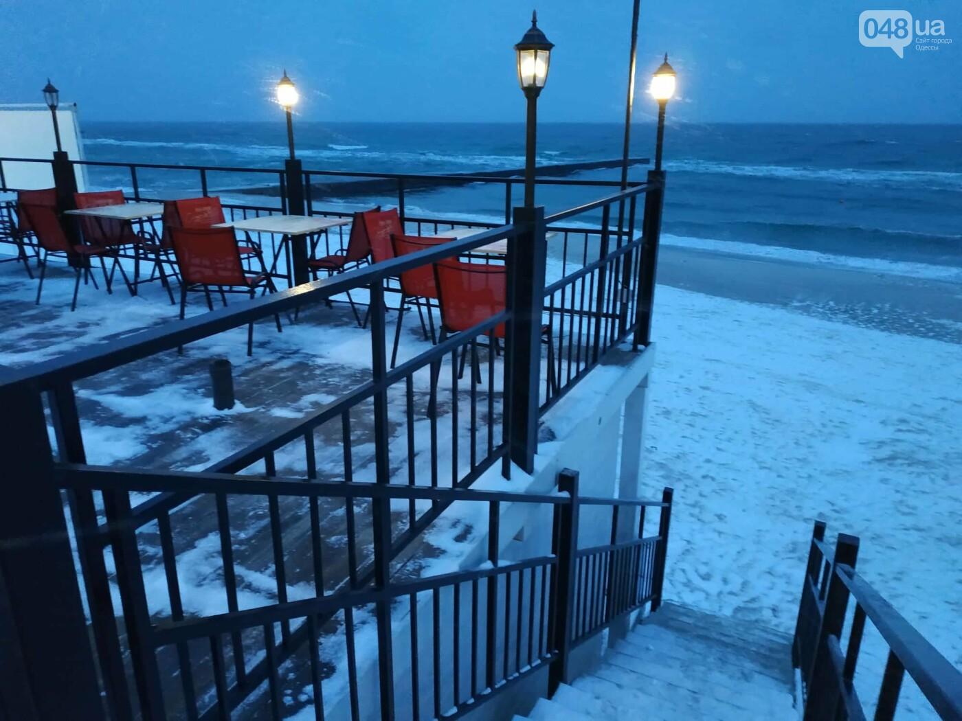Заснеженные одесские пляжи вечером: вот где стоит прогуляться, - ФОТО, фото-46