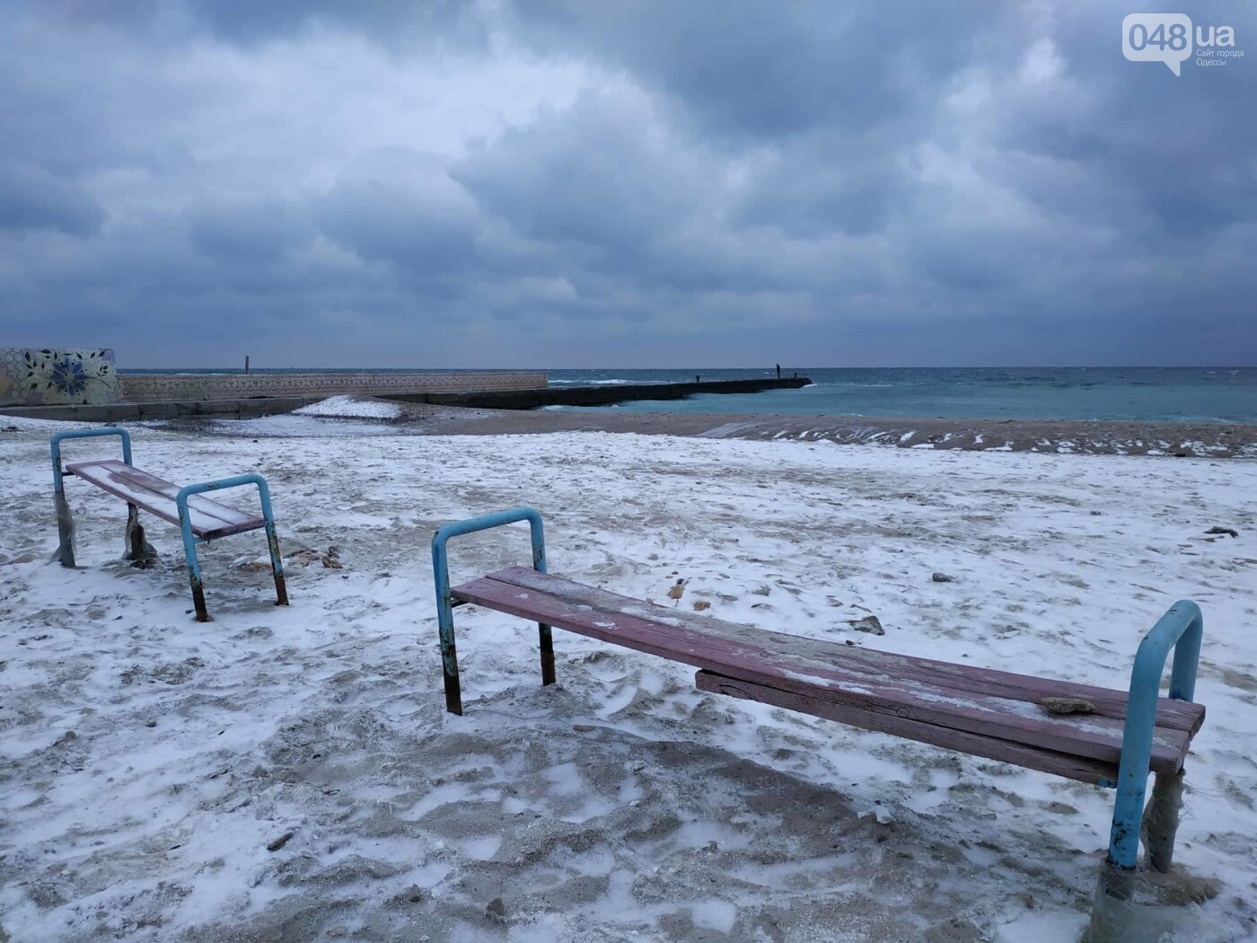 Заснеженные одесские пляжи вечером: вот где стоит прогуляться, - ФОТО, фото-45