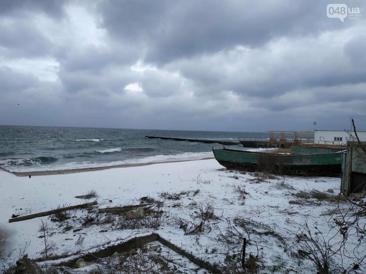 Заснеженные одесские пляжи вечером: вот где стоит прогуляться, - ФОТО, фото-47