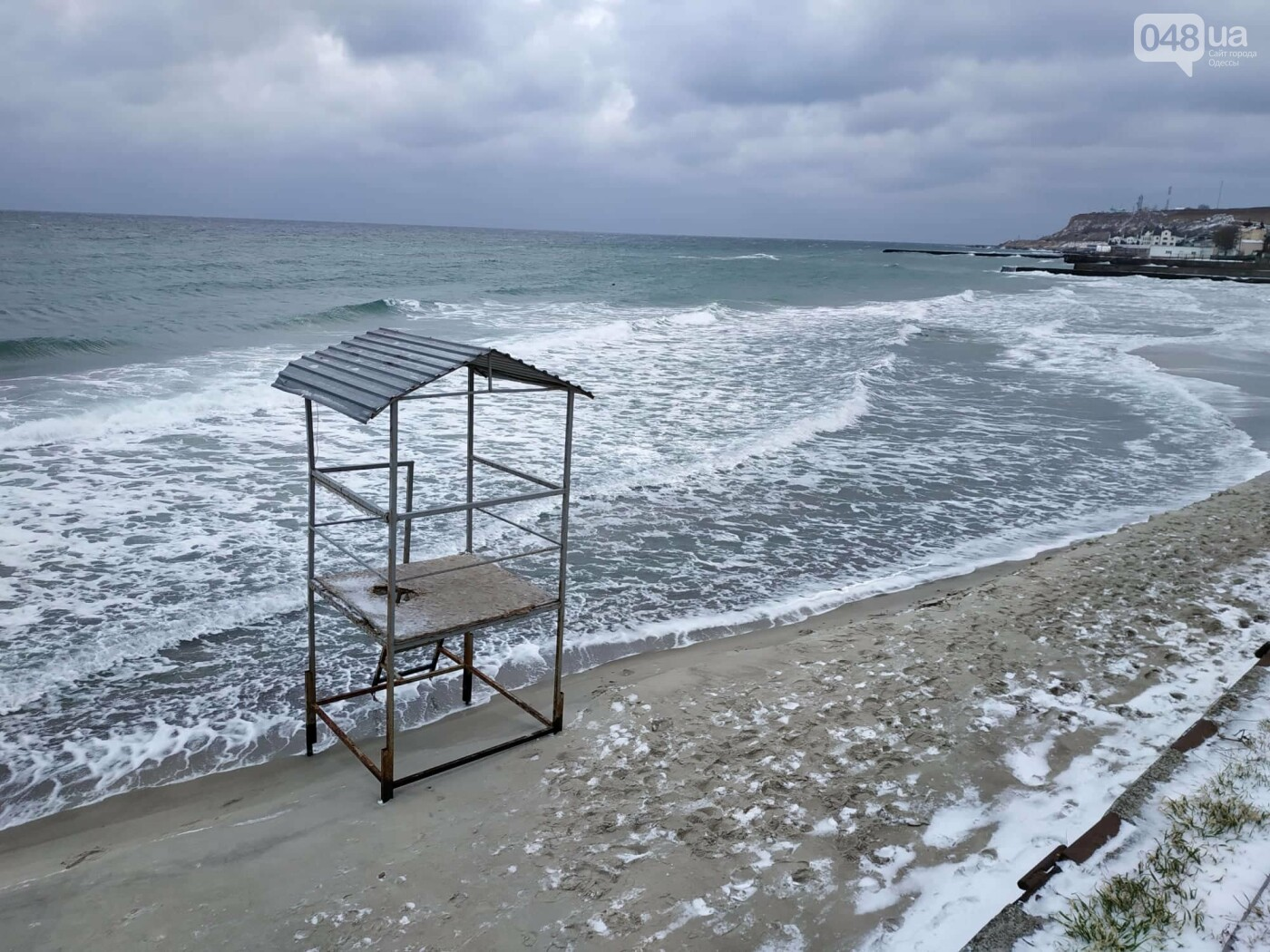 Заснеженные одесские пляжи вечером: вот где стоит прогуляться, - ФОТО, фото-71