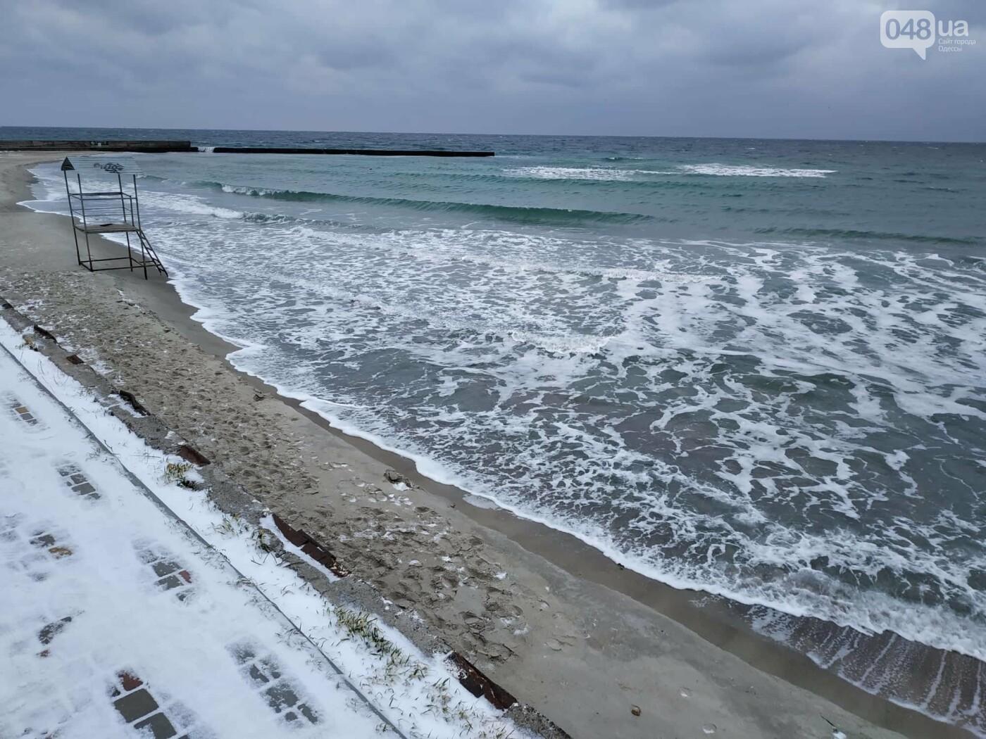 Заснеженные одесские пляжи вечером: вот где стоит прогуляться, - ФОТО, фото-74